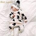 Líder urso Quente a Roupa Do Bebê Define Padrão Dos Desenhos Animados Infantis Meninos Vestuário Ternos Moda Outono Hoodies + Calças Compridas Criança Recém-nascidos conjuntos