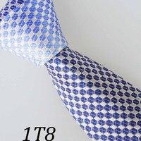 Homens laços de fronteira azul / branco / azul Design geométrico gravata gravatá melhores laços para homens noivo Bestman Tie homens gravata