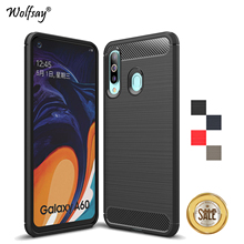 For Samsung Galaxy A60 Case Luxury Brush Style Soft Rubber Phone Back Cover Fundas