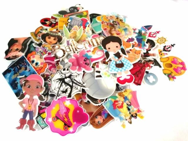50pcs Mixed Assorted Cartoon Character Flatback planar resin for diy decoration crafts accessories
