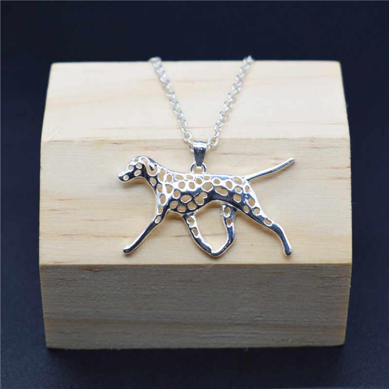 Elfin Trendy dalmatyńskie naszyjniki złoty kolor srebrny kolor biżuteria z psami dalmatyńczyk wisiorek naszyjniki kobiety biżuteria męska