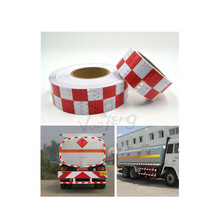 Red/ White Square diamonds reflective tape with self adhesive for truck, free shipping