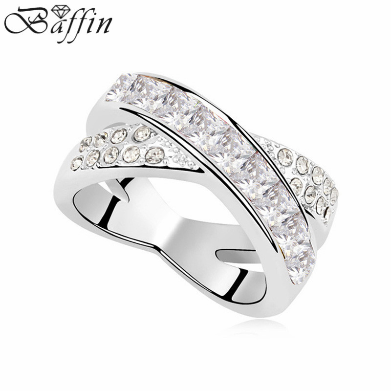 Baffin Mothers Day gift crystal cross ring Made with Austria ELEMENTS in 5 colors