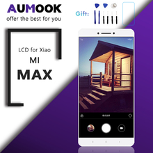 6,44 3,5 дюйма Оригинальный ЖК экран для Xiaomi mi MAX дисплей сенсорный экран дигитайзер сборка для mi MAX ЖК Замена с рамкой
