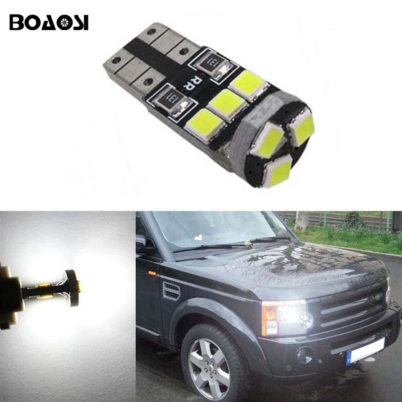 BOAOSI 1x T10 W5W LED Wedge Light Marker Lamps Bulb For Land Rover v8 discovery 4 2 3 x8 freelander 2 defender A8 a9 набор фиксаторов для дизельных двигателей land rover 2 5 td5 jonnesway al010231
