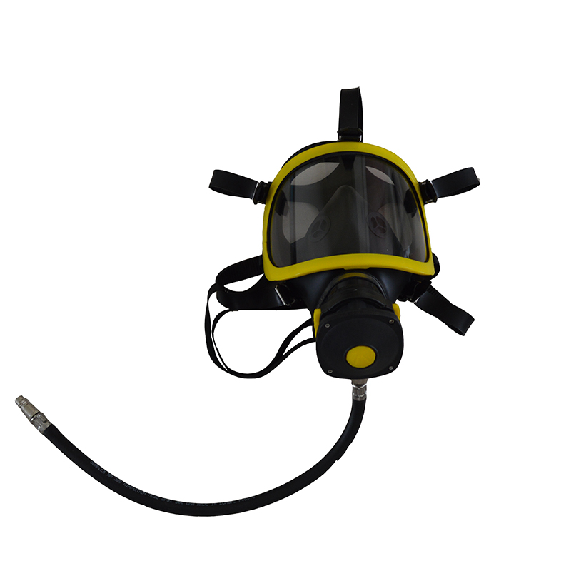 French Style Yellow Color SCBA Mask with LDV BA Facepiece Used for Self Contained Breathing Apparatus Only