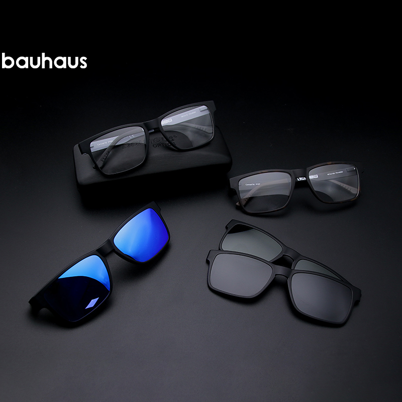 01941aacd Ímã polarizada Óculos de Miopia Prescrição Espetáculo Retângulo Do Vintage  Vidros do Olho Óculos De Sol