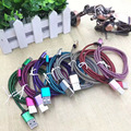Micro USB Cable with Metal Shell Gold-plated Connector Braided Wire for Samsung Galaxy S7 Sony Xperia Xiaomi Redmi Android Phone