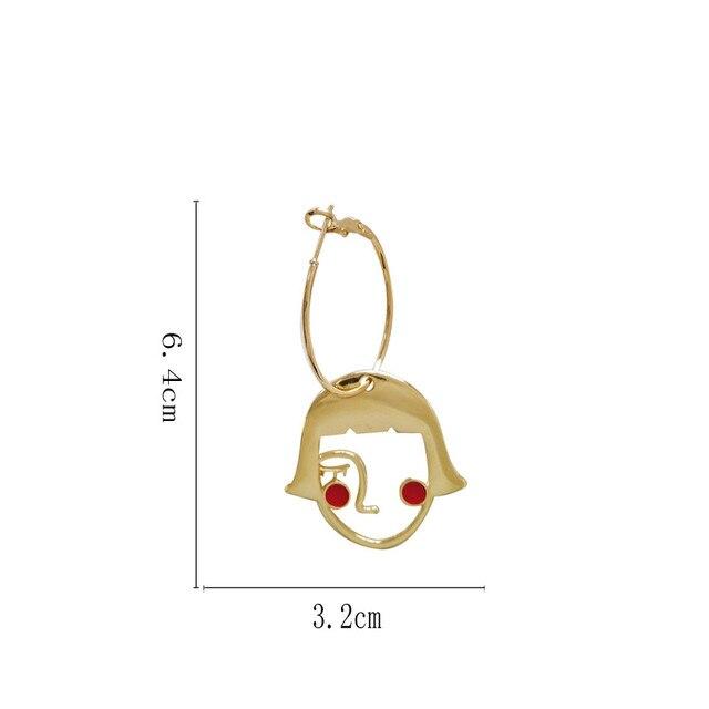 Женские металлические серьги пусеты для девушек