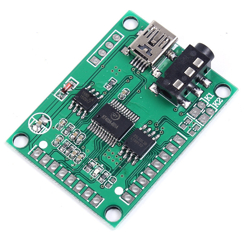 QYMUSB2FS Voice Module Sound Board 3W Amplifier Serial Control 10 Channel Trigger USB Direct Update Flash