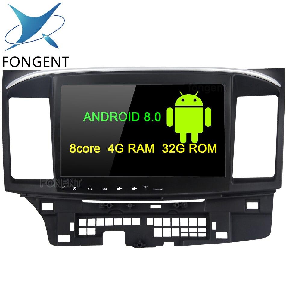 Fongent 10.2 Android 8.0 Voiture GPS Lecteur pour Mitsubishi Lancer 10 EVO avec 4g + 32g Octa core Auto Stéréo Navi Radio Multimédia