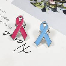 PBR150 (1), della lega Dello Smalto Rosa/Bue Ribbon Breast Cancer/Cervicale Cancer Awareness Pin Spilla(China)