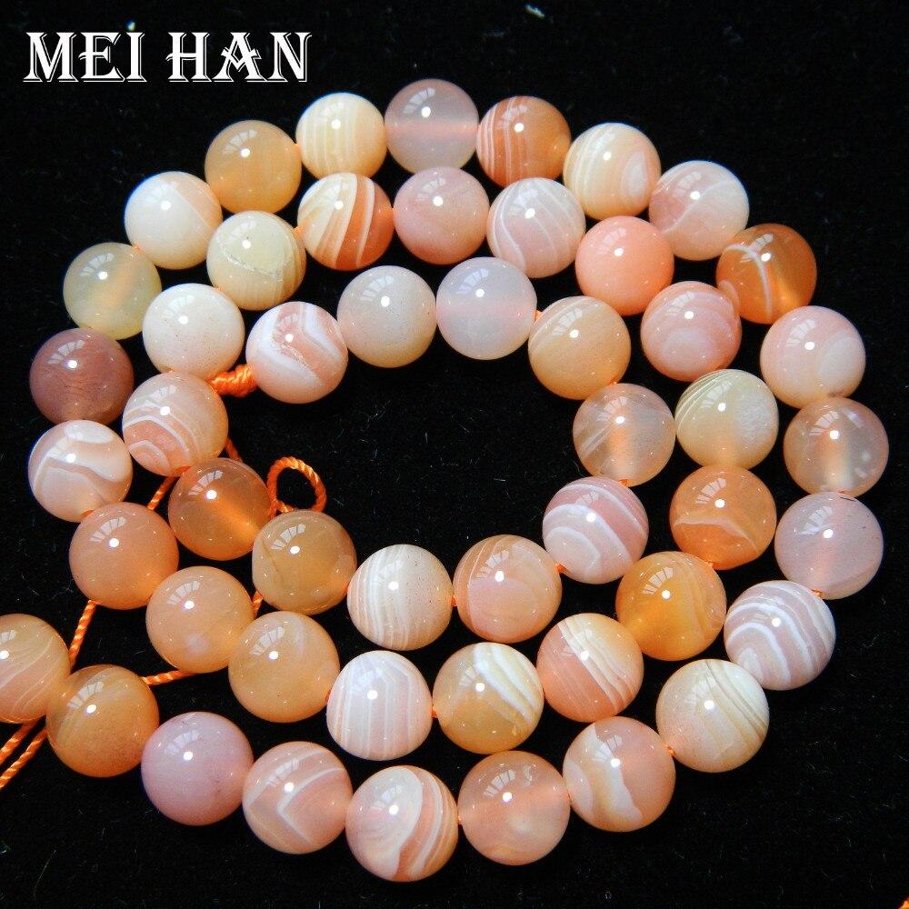 40 Perlen/strang 10mm Natürliche Rosa Karneol Runde Lose Perlen Für Schmuck Machen Design QualitäTswaren Meihan Freies Verschiffen