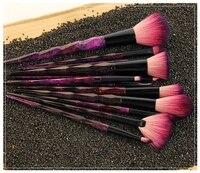 MODOAO 12 adet Elmas Şekli Makyaj Fırçalar Set Güzellik Kozmetik Göz Farı Dudak Toz Yüz Pinceis Aracı Fırça Kitleri Makyaj Fırça