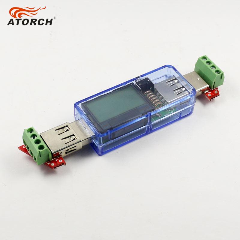 ATORCH USB tester Woltomierz cyfrowy DC + iphone micro USB Type-c - Przyrządy pomiarowe - Zdjęcie 3