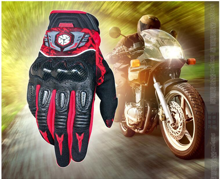 SCOYCO leather motorcycle gloves  off road Cycling gloves outdoorsports  bike gloves|bike gloves|cycling gloves|gloves gloves - title=