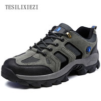 2017 Men Hiking Shoes Walking Shoe Outdoor Sneakers Waterproof Male Genuine Leather Climbing Shoes Non Skid