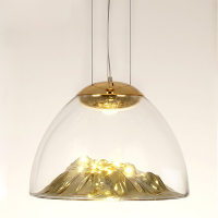 Modern LED Pendant Lamp Iceberg Pendant Light Gold Copper Suspension Lamp Silver Glass Lava Irregular Hang for Living Room F006