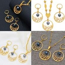Anniyo, новая модель, гавайский этнический комплект ювелирных изделий, ожерелье, серьги, для женщин, девушек, Гуам, Микронезия, Marshallese Hawaii, лучший подарок#103421