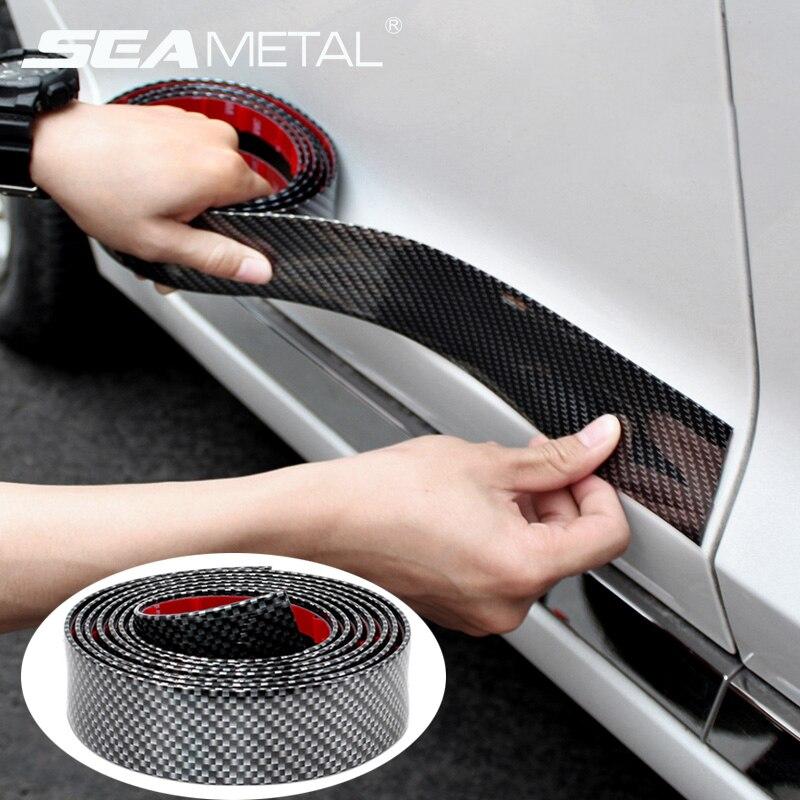 5D Carbon Fiber on Car Stickers Vinyl Door Bumper Film Protector Trim Trunk Decal in Auto For BMW Audi Body Sticker Accessories sticker