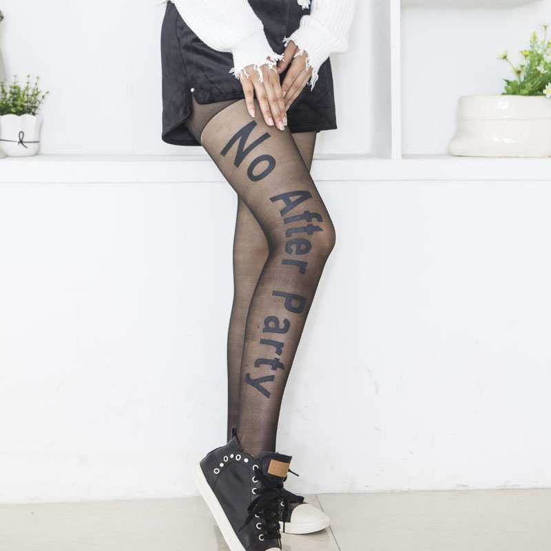 Las mujeres Sexy pantimedias medias de Nylon medias pie sin costuras medias de malla de rejilla Vintage tatuaje medias