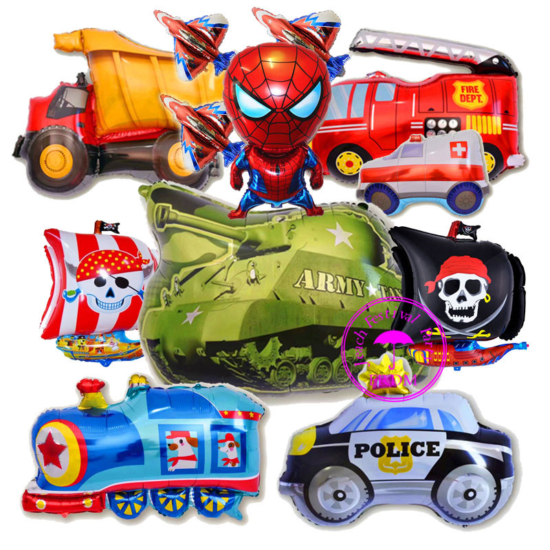 baby helium balloon car helicopter toy kids party supplies big airplane train toys cars birthday party decoration cars balloons image