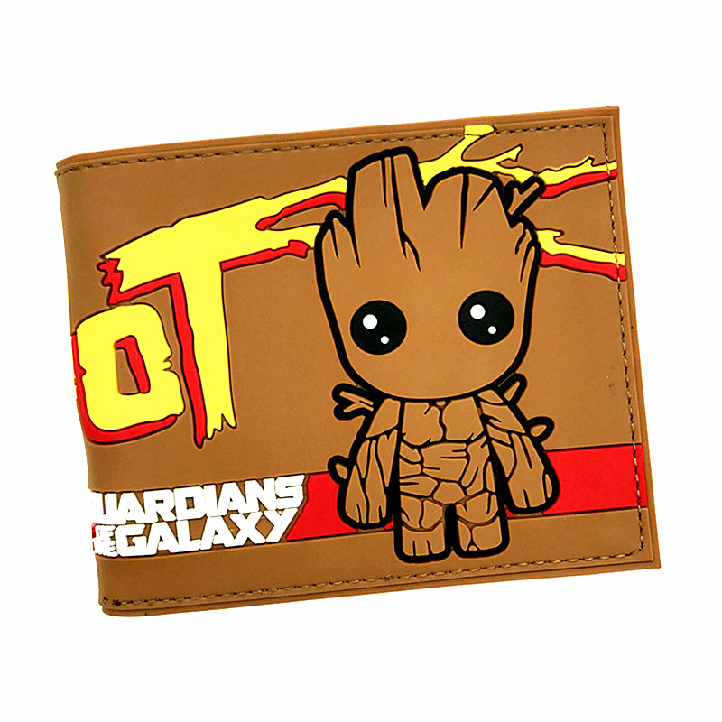Free Shipping Marvel Guardians of The Galaxy 3D Cute Groot Anime Cartoon Totoro Gravity Falls Zelda Mens Wallets Short Purse guardians of the galaxy console logo vinyl decal sticker car movie marvel laptop