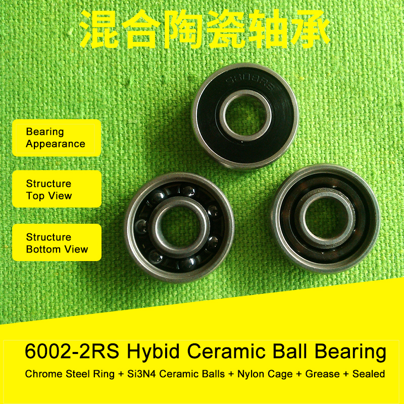 6002 Hybrid Ceramic Bearing 15x32x9 mm ABEC-1 ( 1 PC ) Bicycle Bottom Brackets & Spares 6002RS Si3N4 Ball Bearings motor bicycle fittings qj100t 9 c bottom allied samsung panel