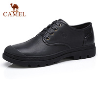 CAMEL Business Black Men Shoes Genuine Leather Retro Men Comfortable Autumn Male Work Formal Lace up Footwear