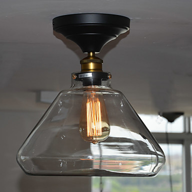 Loft Retro Style Edison Bulb Vintage Lamp Industrial Ceiling Light For Home Indoor Lighting Fixtures Iron Glass Painting