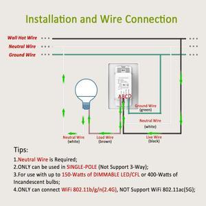 Image 2 - Thông Minh Công Tắc Đèn Mờ Cho Mờ Đèn LED, WiFi Công Tắc Đèn Hoạt Động Với Alexa Và Google Trợ Lý Đèn Kết Nối Công Tắc