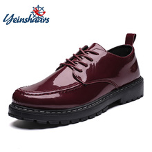 Ankle-Martin-Shoes Oxfords Male Men's Fashion High-Quality Patent Winter Autumn Low-Top