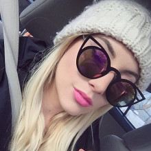 JUANBO New Cat Eye Sunglasses Women Brand Designer Fashion Vintage Mirror Sunglasses Hot Cateye Sun Glasses For Female UV400
