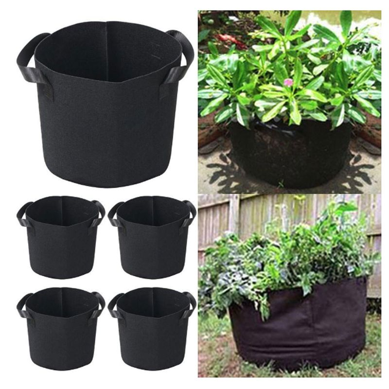 Geotextile Fabric Planting Bag 3/5 Gallon Plants Flower Cultivation Pot Big Capacity Vegetable Growing Home Gardening Accessory