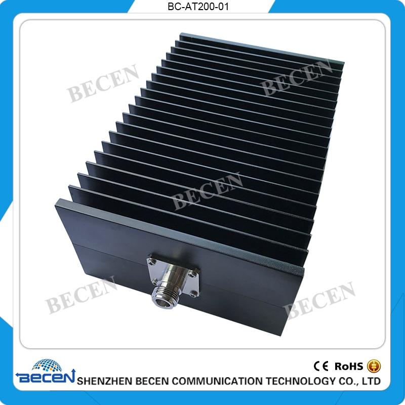BECEN,200W N-JK coaxial fixed attenuator,DC to 3GHz , ,1dB,3dB,5dB,6dB,10dB,15dB,20dB,30dB,40dB,50dB,freeshipping