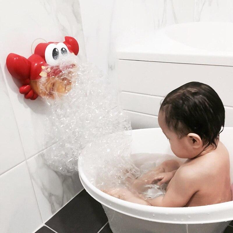 2018 New 1Pcs Crab Bubble Machine Musical Bubble Maker Bath Baby Toy Bath Shower Fun Toys For Children цена 2017
