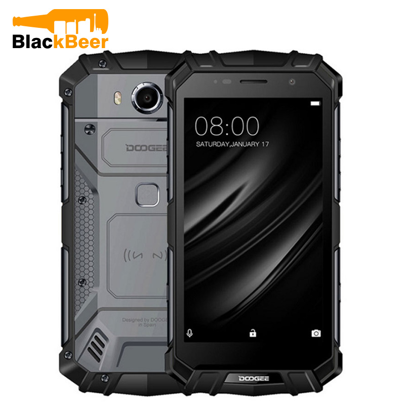 Doogee S60 Lite Mobile Phone IP68 Waterproof Rugged MT6750T Octa Core 4GB+32GB Android 7.0 5.2 Inch TouchScreen NFC Smartphone
