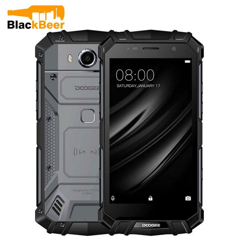 Doogee S60 Lite téléphone portable IP68 étanche robuste MT6750T Octa Core 4GB + 32GB Android 7.0 5.2 pouces écran tactile NFC Smartphone