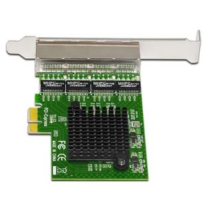 Image 4 - Ağ Kartı 4 Port Gigabit Ethernet 10/100/1000 M PCI E PCI Express 4x Gigabit Ethernet Ağ kart lan kartı Masaüstü Bilgisayarlar için