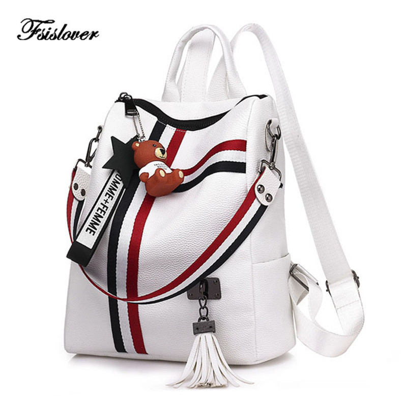 2019 Retro Women Backpack Stripe Soft Leather Ladies Shoulder Bags Three Use Bags Womens Backpacks For Girls Rucksack Mochila2019 Retro Women Backpack Stripe Soft Leather Ladies Shoulder Bags Three Use Bags Womens Backpacks For Girls Rucksack Mochila