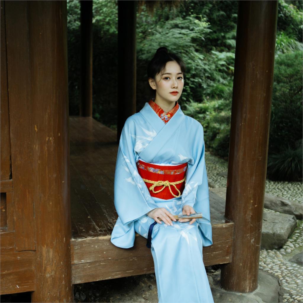 2019 Yukata Japanese Kimono Traditional Women Kimono Costume  Japan Dress Vietnam Clothing Japanese Style Kimono Women Yukata
