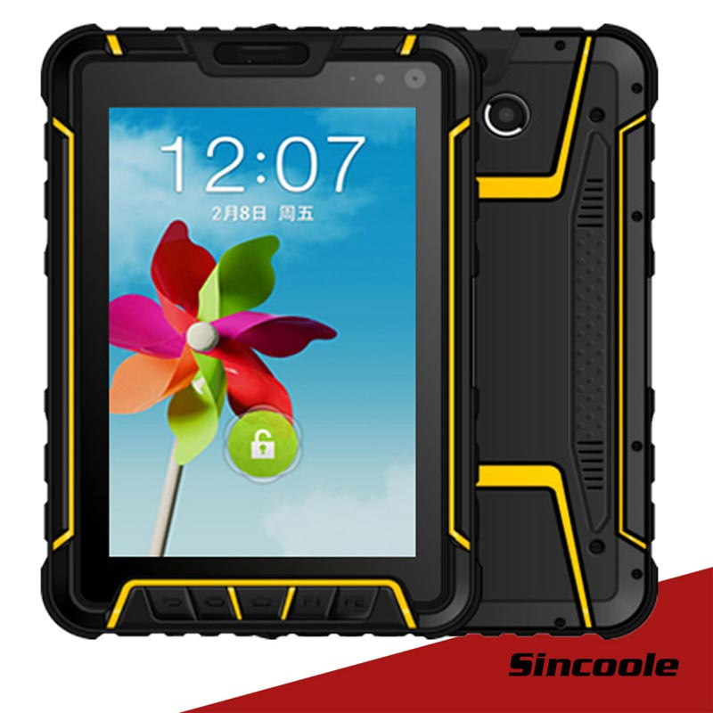 Sincoole 7 inch Andorid 5.1 4G LTE GSM Rugged industrial Tablets PC with 2D Barcode Scanner ...