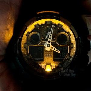Image 3 - Casio 시계 G SHOCK 군사 크로노 그래프 relogio 디지털 손목 시계 200m 방수 석영 남성 시계 다이빙 스포츠 충격을 LED 최고의 브랜드 명품 세트 C는 저항에 Antimagnetic는 g 충격 3D 다이얼 구조 남성 시계 시계 relogio masculino reloj hombre erkek kol saati montre homme zegarek meskiGA100MB