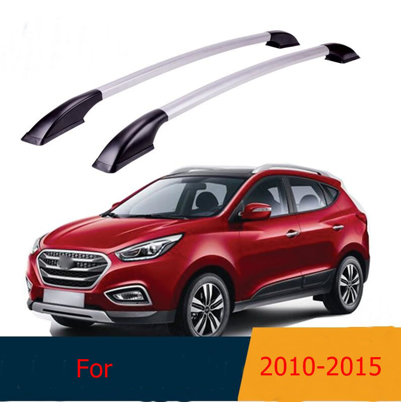 Roof Rack Boxes Side Rails Bars Luggage Carrier A Set For Hyundai IX35 2010 -2015 2011 2012 2013 2014 image