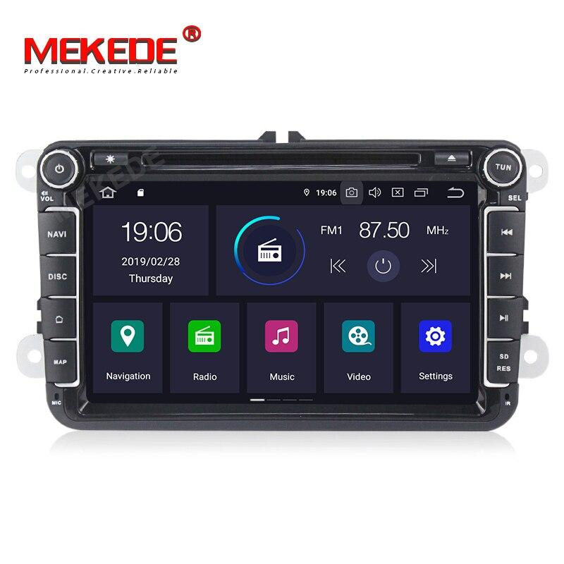 Lecteur multimédia de voiture DSP + IPS Android 9 navigation GPS pour Golf/Tiguan/Skoda/Fabia/Rapid/Seat/Leon Canbus Automotivo Radio DVD