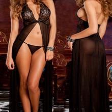 2018 Sexy women nightgown sleepwear Ladies sexy lingerie nuisette femme chemise de nuit