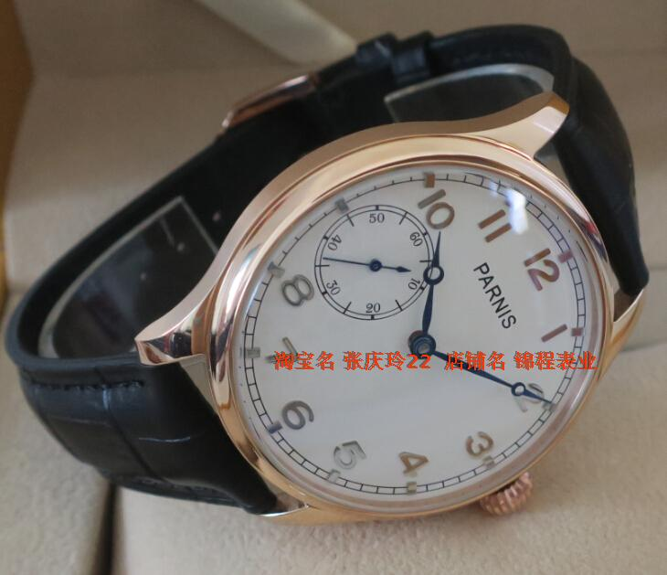 PARNIS watch the seagulls ST3600 6497 gooseneck core plating Rose gold watchcase onion manual mechanical men
