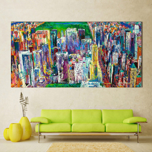 Manhattan Panorama Canvas Wall Picture