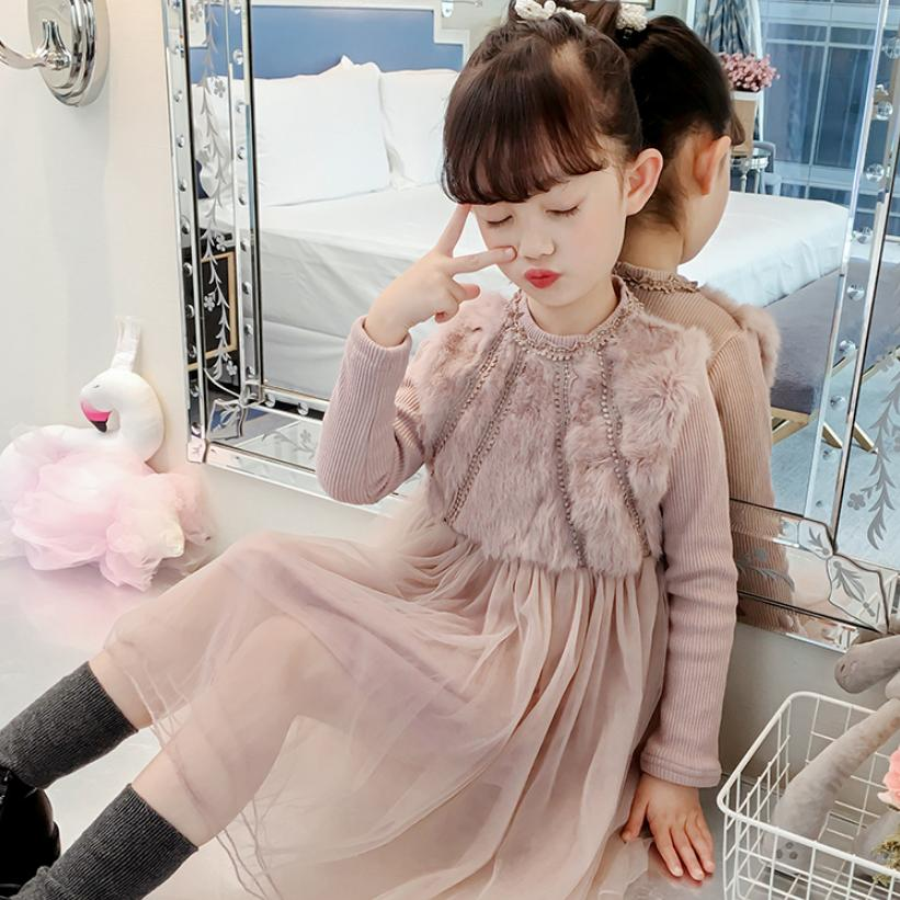 Baby Girls Plus Velvet Dress Childrens Clothes Rabbit Stitching Dress Long Sleeve Cute Kids Clothes 2019 New Warm Dress Y139Baby Girls Plus Velvet Dress Childrens Clothes Rabbit Stitching Dress Long Sleeve Cute Kids Clothes 2019 New Warm Dress Y139