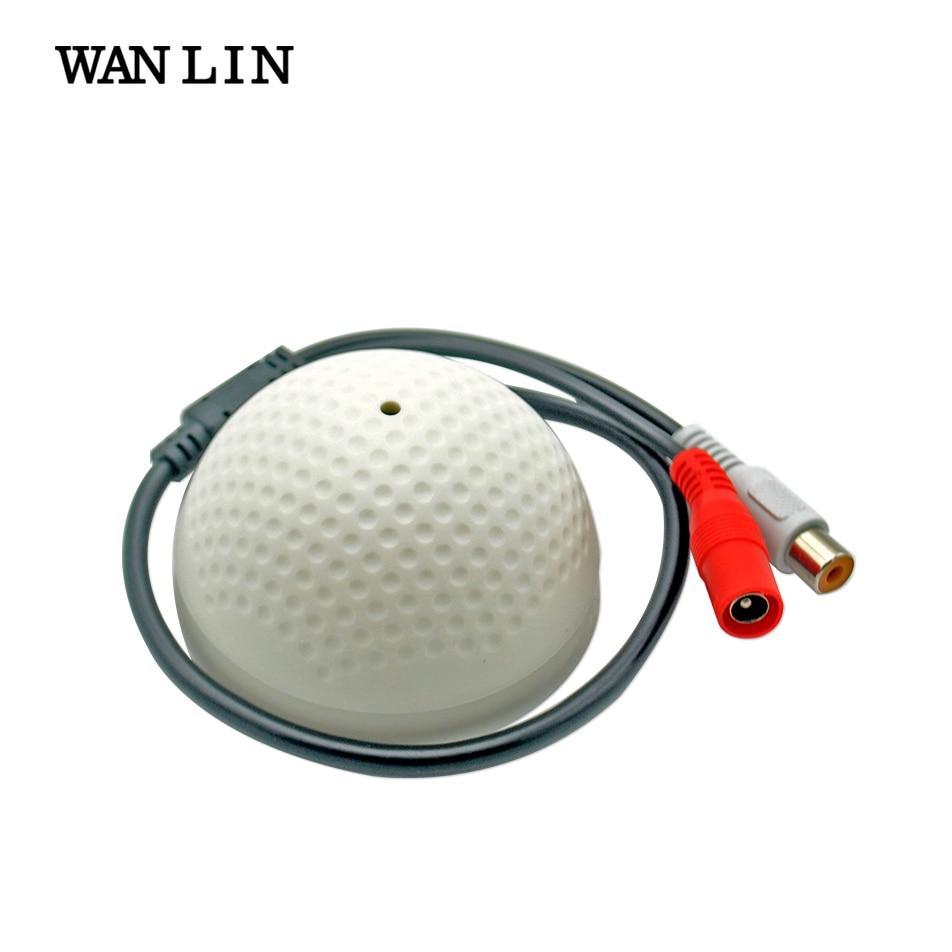 WANLIN Mini CCTV Microphone Security Surveillance Audio Input Wide Range CCTV Camera Sound Pick up For AHD DVR IP Camera leg extension split machine